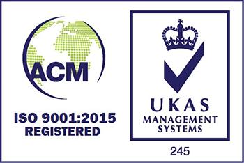 9001 ACM UKAS logo colour